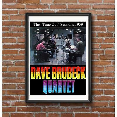 Dave Brubeck Quartet Time Out Studio Session 1959 Take Five Jazz Poster