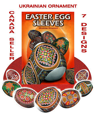 5 - package  Egg Sleeves, Ukrainian Pysanka,Pysanky, Ukrainian Eggs,Shrink Wraps
