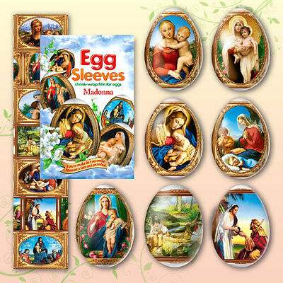 #18 Madonna With Baby Jesus Instant Easter Egg  Sleeve egg Wraps
