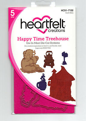 Happy Time Treehouse Heartfelt Creations Die for Cardmaking,Scrapbooking, etc