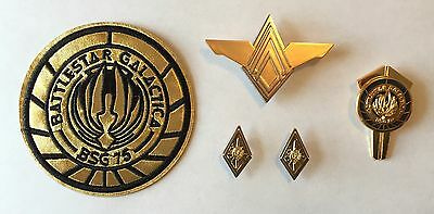 Battlestar Galactica Colonel Rank Pins, Senior Officer Wings, Dress Pin & Patch