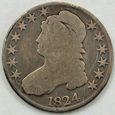 1824 50C Capped Bust Half Dollar (Normal)