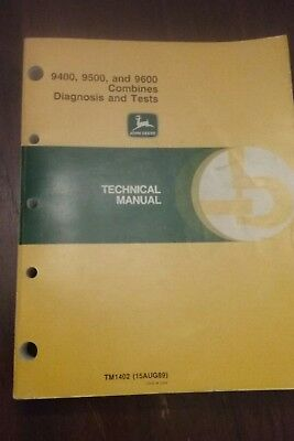 John Deere 9400 9500 9600 combines diagnosis and test technical manual
