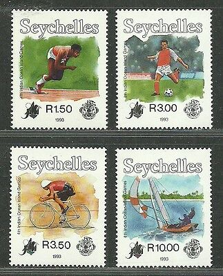Seychelles 1993 VF MNH Stamps Scott # 755-8 CV 11.50 $ 4th Indian Oc. Isl. Games