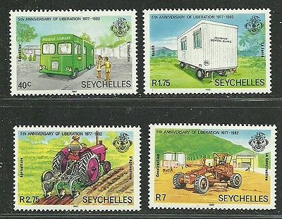 Seychelles 1982 Very Fine MNH Stamps Scott # 491-4 CV 2.15$ Anniv. of Liberation