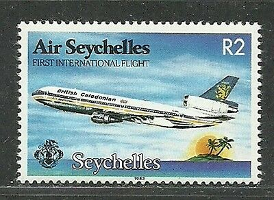Seychelles 1983 VF MNH Stamp Scott # 523 First Intl. Air Flight CV 2.50 $