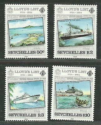 Seychelles 1984 VF MNH Stamps Scott # 538-541 CV 5.25 $ Lloyd's List Issue