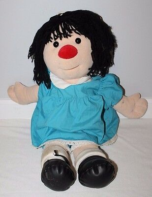 """Big Comfy Couch Molly Clown Girl Plush Doll Vintage 28"""" Blue Dress TV Show RARE"""