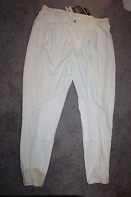 Trainer's Choice Mens Carlyle Ultra Suede Riding Pants Breeches White XL? NWT
