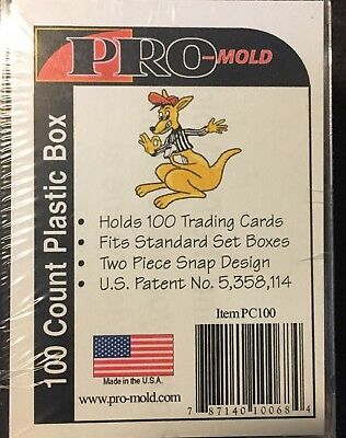 100 COUNT PRO-MOLD PLASTIC CARD BOX 2 Piece Snap Tight NEW!!