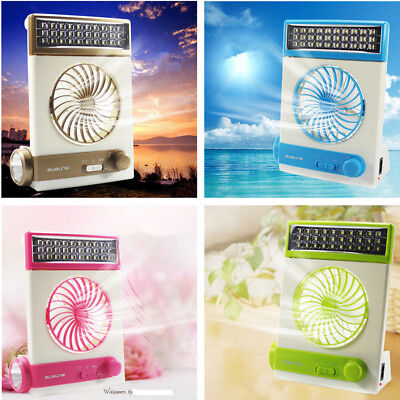 New Solar Power/AC 2-in-1 Camping Cool Fan Light Tent LED Lantern Cooler XXF