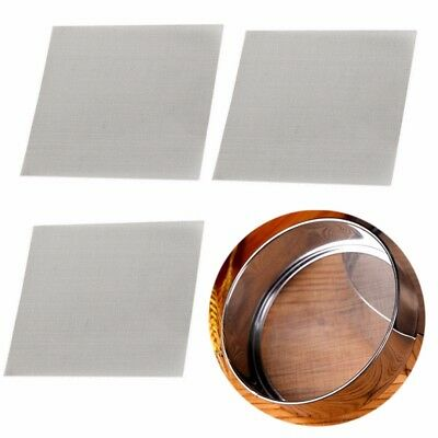 3pcs Stainless Steel 50 Mesh Micron True Fine Screen Filtration Filter 10x10cm
