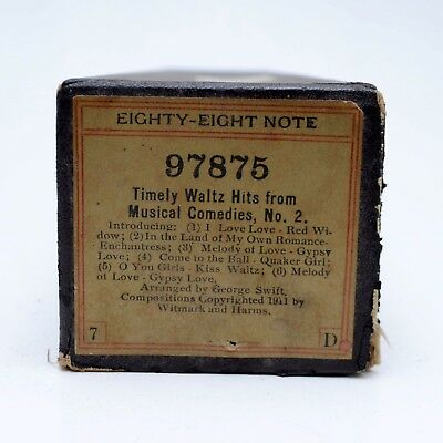 Piano Roll Eighty Eight Note 97875 Timely Waltz Hits From Musical Comedies No 2