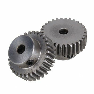 10x(2 x module 1 20 teeth 6mm hole diameter motor metal steel gear for engi O4T0