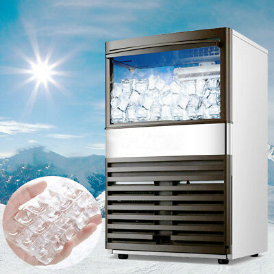 Stainless Steel Commercial Automatic 110Lbs 55kg/24h Ice Cube Ice Maker Machine.