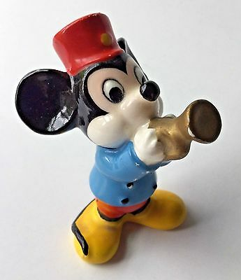 Vintage Mickey Mouse Figurine with Trumpet Disney