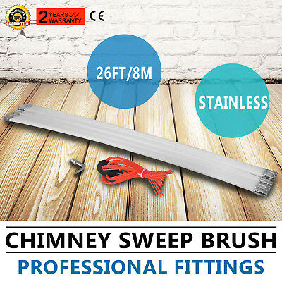 8m Chimney Sweep Brush Chimney Sweeper Chimney Cleaning Kit Rods