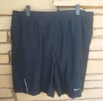 Men's Nike Dri Fit Athletic Running Shorts Outdoor Black Size XL Lining Pockets
