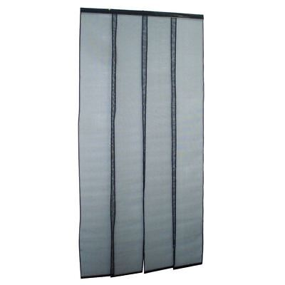 Door Curtain Flywire - Black - 900mm x 2000mm - ZONE HARDWARE - FS5733