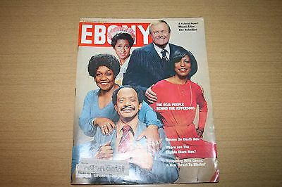 Vintage Ebony Magazine September 1980 featuring Real People Behind Jeffersons