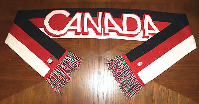 London 2012 OLYMPIC TEAM CANADA red,white & black Scarf adult O/S HBC Collection