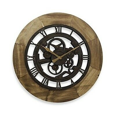 """19"""" Large Wall Clock Roman Numbers Wall Decor Vintage Antique Industrial Bronze"""