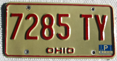 1978 OHIO License Plate Vintage Tag# 7285 TY Expired Used License Plate