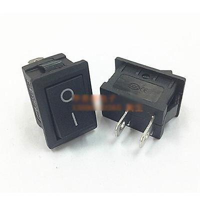 10 Pcs New Durable Boatlike Switch Black Rocke KCD1-101 AC 250V 6A r 2 Pin Tool