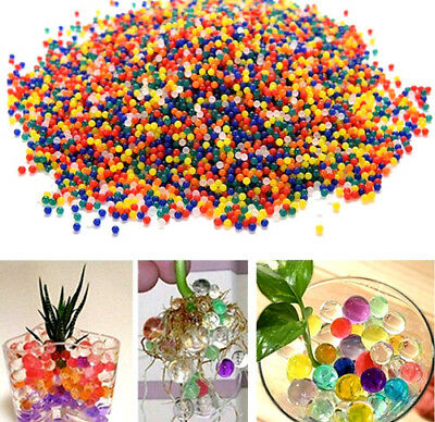 10000 Water Crystal Beads Gel Balls Vase Fillers Orbeez Toy Refill Colors AU