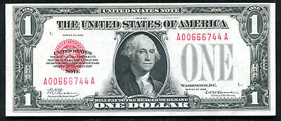 Fr. 1500 1928 $1 One Dollar Red Seal Legal Tender United States Note Unc