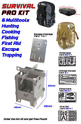 2 LION GEAR PRO KIT Survival Escape Hunting Fishing First Aid Stove