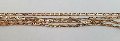 Fine Solid 9k Yellow Gold Italian Link Necklace 59cm