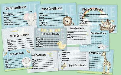 Reborn Doll Baby Boys Birth Certificates