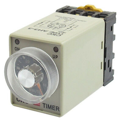 10x(AC 110V 8P 0-60 Minutes Range Adjustable Delay Timer Time Relay AH3-3 + K2W7