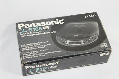 Vintage Panasonic Portable CD Player SL-S165 Gray with car cassette adapter kit