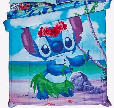 "Disney Lilo & Stitch Tropical Comforter 81"" x 86"" Full/Queen Comforter NEW"