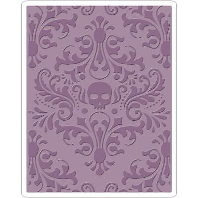 Tim Holtz Texture Fades Embossing Folder by Sizzix - Skull Damask