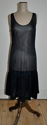 Vintage 80's Sheer Black Slip