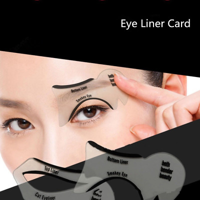 10pcs Eyeliner Stencil Cards Eyes Line Drawing Cards Fashion Makeup Beauty Tool