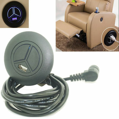 USB Charge 2 Button Power Recliner Switch Lift Chair Handset W/ 5 Pin Plug