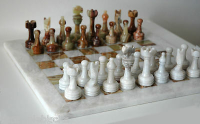 Chessboard Complete Chess in Marble Marble Chessboard Chess Game Box 30x30cm