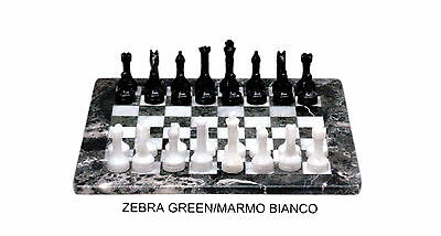 Chessboard Complete Chess White Marble and Green Marble Chess Set Chessboard