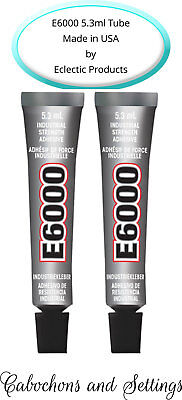2 x E6000 Glue Industrial Adhesive for Jewellery, Craft, Auto 5.3ml / .18Fl.OZ​