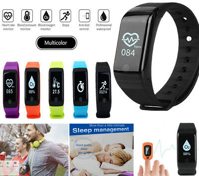 Activity Tracker Heart Rate/Blood Pressure/Oxygen Monitor Pedometer Smart Watch