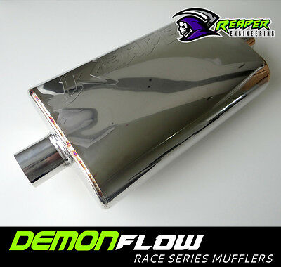 "2.25"" (2.25 inch) Race Muffler 304 Stainless Steel - Polished"