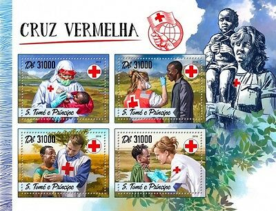 Z08 IMPERFORATED ST16507a Sao Tome and Principe 2016 Red Cross MNH