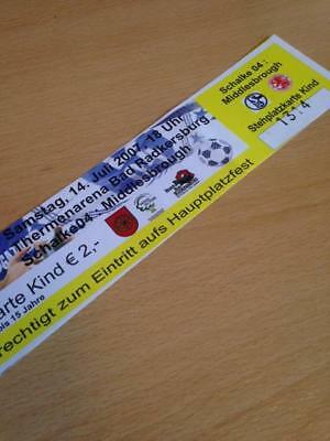 2007/08 Schalke 04 V Middlesbrough - Friendly - Used Ticket