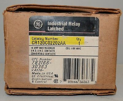 GE Industrial Latched Relay CR120C02202AA  ++ NEW ++