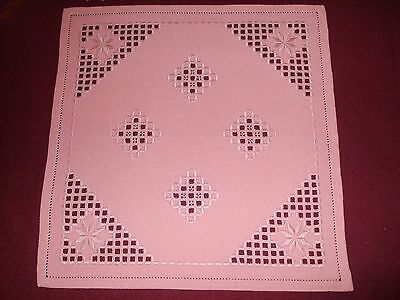 Beautiful Vintage Cutting Hand-Embroidered Linen Hardanger