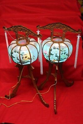 Lamp Zen Lantern Buddha japan japanese lamp obon festival mint  f/s from japan